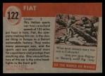 1954 Topps World on Wheels #122   Fiat Back Thumbnail