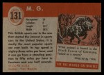 1954 Topps World on Wheels #131   M.G. Back Thumbnail