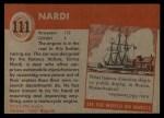 1954 Topps World on Wheels #111   Nardi Back Thumbnail