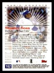2000 Topps Opening Day #162   -  Sammy Sosa Magic Moments Back Thumbnail