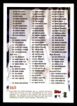 2000 Topps Opening Day #165   Checklist Back Thumbnail