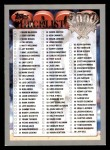2000 Topps Opening Day #165   Checklist Front Thumbnail