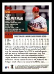2000 Topps Opening Day #96  Jeff Zimmerman  Back Thumbnail