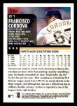 2000 Topps Opening Day #81  Francisco Cordova  Back Thumbnail