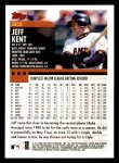 2000 Topps Opening Day #95  Jeff Kent  Back Thumbnail