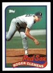 1989 Topps #450  Roger Clemens  Front Thumbnail