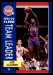 1991 Fleer #379   -  Joe Dumars Pistons Leaders Front Thumbnail