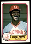 1981 Fleer #202 COR George Foster  Front Thumbnail