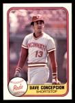1981 Fleer #197  Dave Concepcion  Front Thumbnail