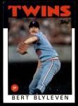 1986 Topps #445  Bert Blyleven  Front Thumbnail