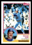 1983 Topps #368  Richie Zisk  Front Thumbnail