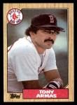 1987 Topps #535  Tony Armas  Front Thumbnail