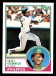 1983 Topps #180  Rickey Henderson  Front Thumbnail