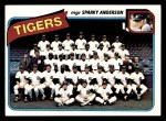 1980 Topps #626   -   Sparky Anderson Tigers Team and Checklist  Front Thumbnail