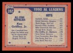 1991 Topps #392   -  Ken Griffey Jr. All-Star Back Thumbnail
