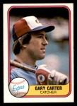 1981 Fleer #142  Gary Carter  Front Thumbnail