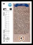 1990 Upper Deck #54  Ben McDonald  Back Thumbnail