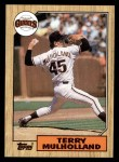 1987 Topps #536  Terry Mulholland  Front Thumbnail
