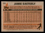 1983 Topps #528  Jamie Easterly  Back Thumbnail