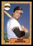 1987 Topps #71  Mike Aldrete  Front Thumbnail