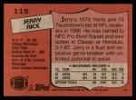 1987 Topps #115  Jerry Rice  Back Thumbnail