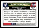 2008 Topps Updates #288   -  Evan Longoria All-Star Back Thumbnail