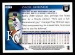 2010 Topps #50  Zack Greinke  Back Thumbnail