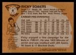 1981 Topps #8  Ricky Sobers  Back Thumbnail