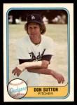 1981 Fleer #112  Don Sutton  Front Thumbnail