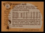 1981 Topps #88 MW Robert Reid  Back Thumbnail