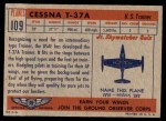 1957 Topps Planes #109 RED  Cessna T-37A Back Thumbnail