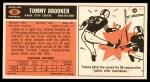 1965 Topps #93  Tommy Brooker  Back Thumbnail