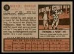 1962 Topps #16  Darrell Johnson  Back Thumbnail
