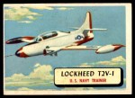 1957 Topps Planes #2 RED  Lockheed T2v-1 Front Thumbnail