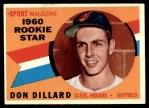 1960 Topps #122   -  Don Dillard Rookie Star Front Thumbnail