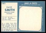 1961 Topps #141  Dave Smith  Back Thumbnail