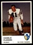 1961 Fleer #156  Charlie Flowers  Front Thumbnail