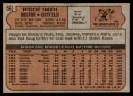 1972 Topps #565  Reggie Smith  Back Thumbnail