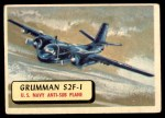1957 Topps Planes #95 RED  Grumman S2f-1 Front Thumbnail
