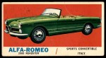 1961 Topps Sports Cars #10   Alfa-Romeo 2000 Roadster Front Thumbnail