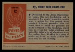 1954 Bowman Power for Peace #12   8 1/2 Ounce Duck Fights Fire Back Thumbnail