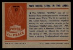 1954 Bowman Power for Peace #17   Won Battle Stars in Two Areas Back Thumbnail