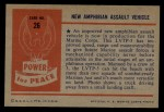 1954 Bowman Power for Peace #26   New Amphibian Assault Vehicle Back Thumbnail