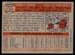 1957 Topps #236  Joe Ginsberg  Back Thumbnail