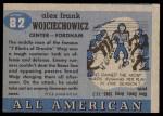 1955 Topps #82  Alex Wojciechowicz  Back Thumbnail