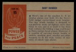 1954 Bowman Power for Peace #95   Baby Bomber Back Thumbnail