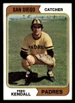 1974 Topps #53 SD Fred Kendall  Front Thumbnail
