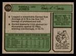 1974 Topps #173 SD Randy Jones  Back Thumbnail