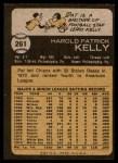 1973 Topps #261  Pat Kelly  Back Thumbnail