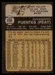 1973 Topps #236  Tito Fuentes  Back Thumbnail